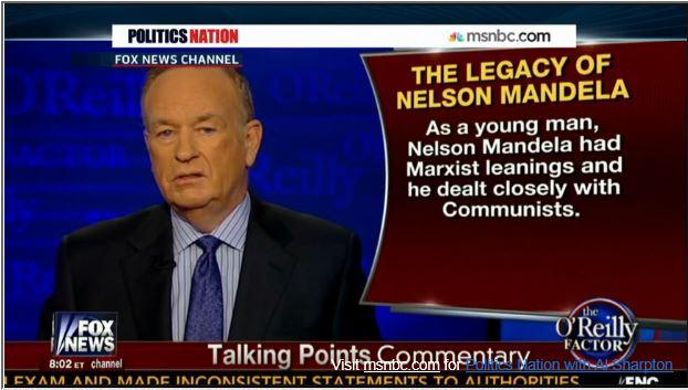 Al Sharpton Bill O'Reilly Nelson Mandela