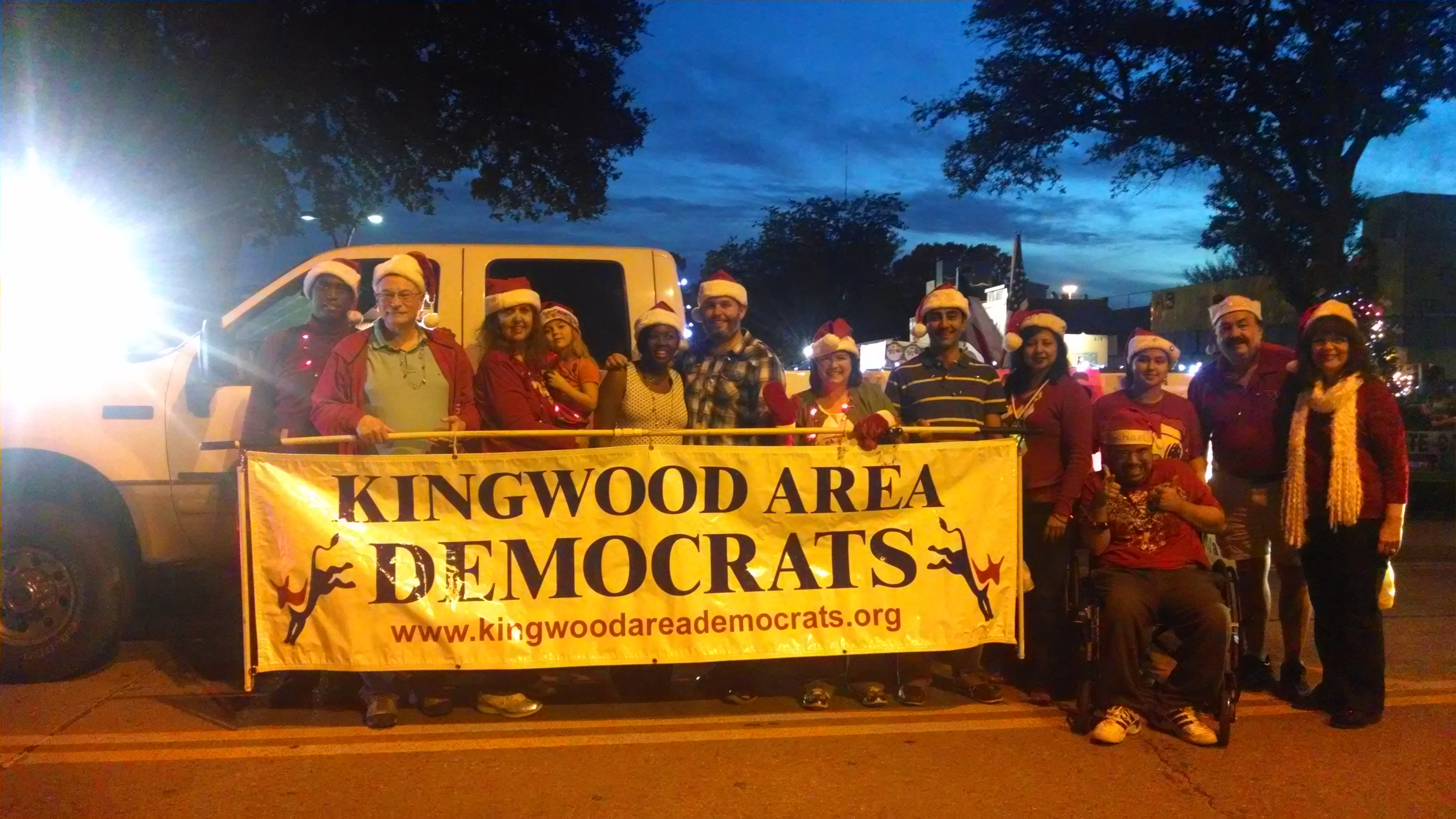 Kingwood Area Democrat Humble Parade Of Lights