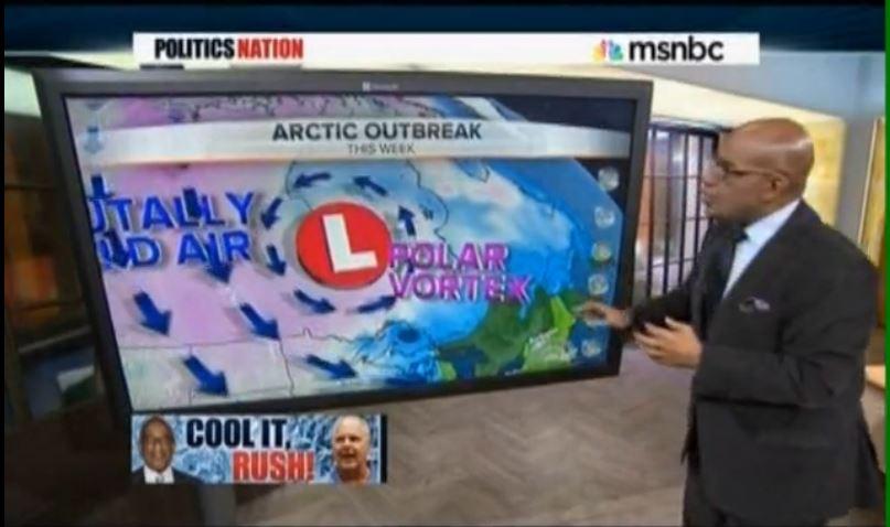 Al Roker Rush Limbaugh Polar Vortex