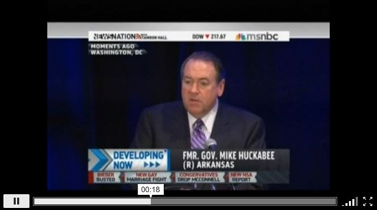 Mike Huckabee racist and sexist remarks at RNC Winter Meeting