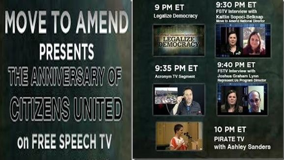 Move To Amend Citizens United Free Speech TV