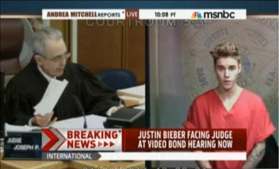 Justin Bieber Bond Hearing