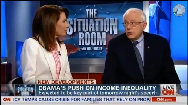 Michele Bachmann Bernie Sanders Income Inequality
