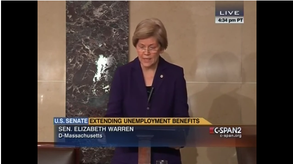 Elizabeth Warren Unemployment Insurance GOP Republican