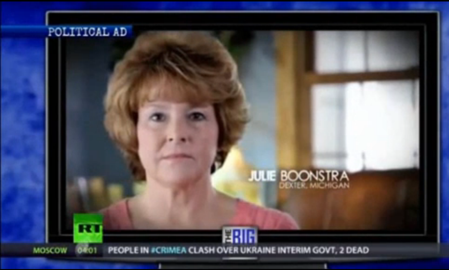 Koch Brothers Julie Boonstra Americans For Prosperity Obamacare Ad