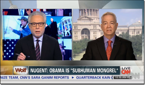Wolf Blitzer Ted Nugent