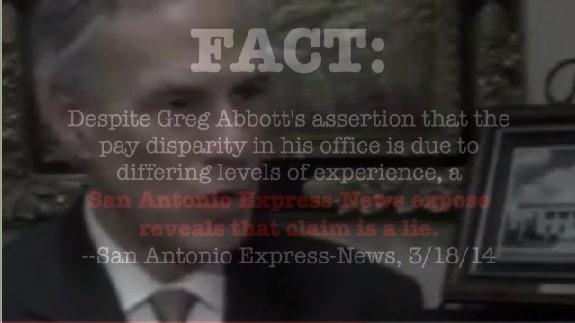 Greg Abbott Women Pay break law
