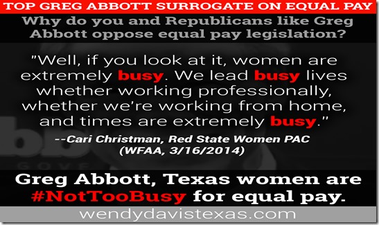 Greg Abbott Equal Pay