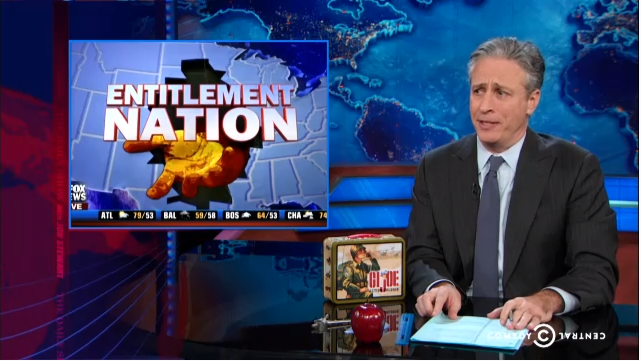 Jon Stewart, Fox News Food Stamps Poor