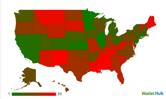 federal government dependent red states blue states