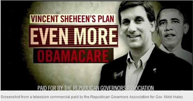 Vincent Sheheen Chris Christie Obamacare
