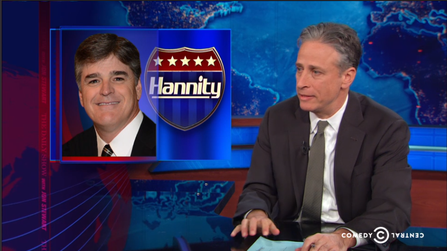 Jon Stewart Sean Hannity The Arbys of News