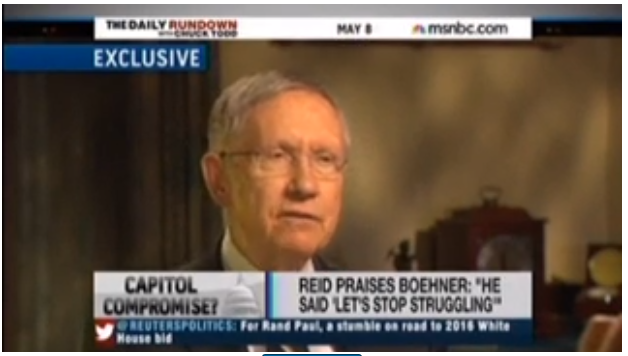 Harry Reid Chuck Todd Press Journalism