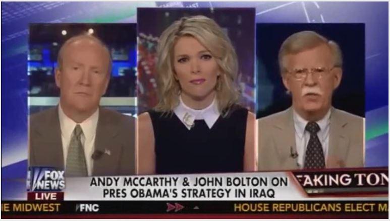 Megyn Kelly Iraq War Andrew C McCarthy John Bolton