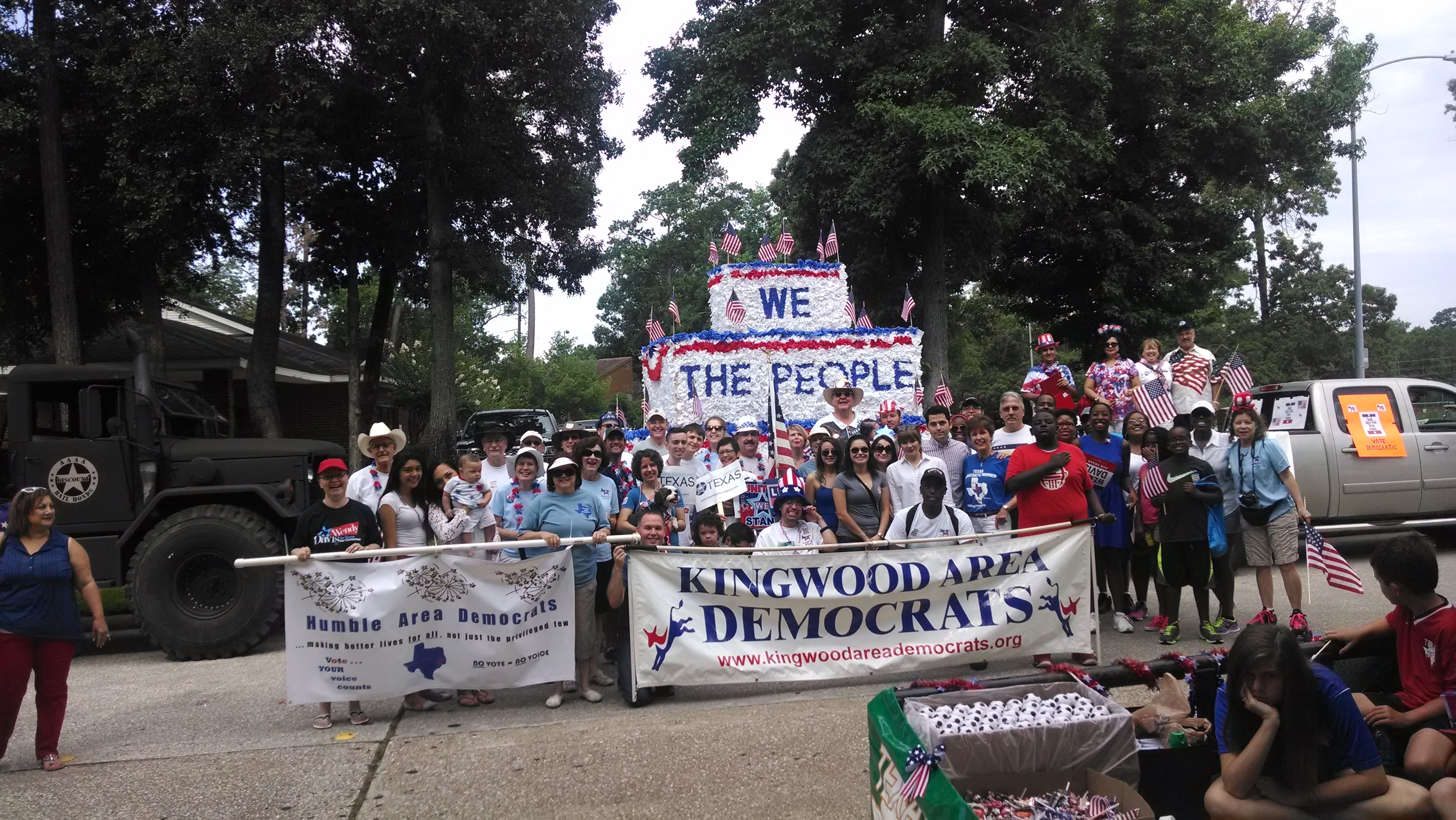 Kingwood Area Democrats 4th of July Parade