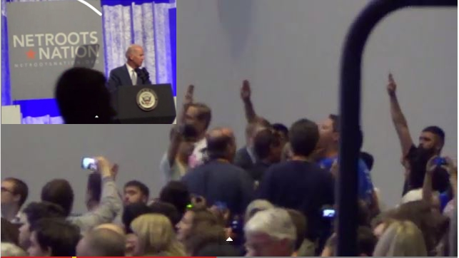 Vice President (Job Title),Joe Biden,Netroots Naton 2014,#NN14,NN14,Heckled,Stop Deporting Our families,Deportation,Immigration