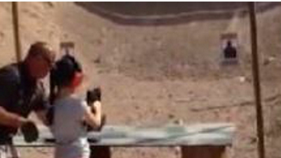 9 Year Old girl,kill,instructor,uzi