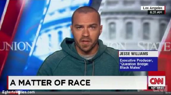 Actor Jesse Williams gets real on CNN with Candy Crowley about the dehumanization of black men.