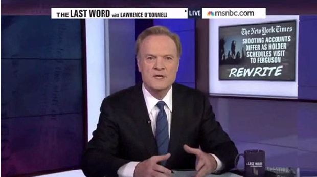 Lawrence O'Donnell, New York Times, Michael Brown, Darren Williams