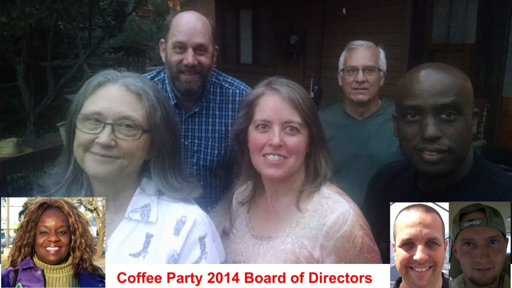 Coffee Party Board of Directors, Jeanene Louden,Vince Lamb,Tim Danahey,Egberto Willies,Debilyn Molineaux,Tonya N. Jefferson, Cameron Michaels, Billy Sears