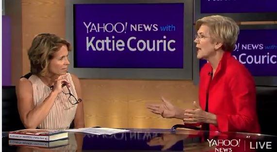Elizabeth Warren Katie Couric on Eric Cantor Wall Street