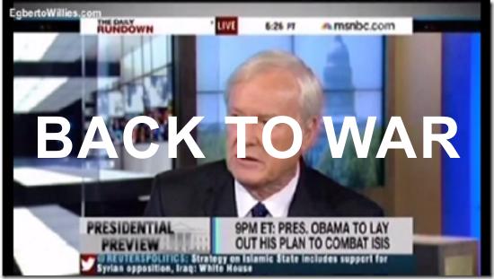 Neocon influenced Media sending us back to war