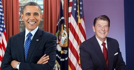 President Barack Obama, President Ronald Reagan