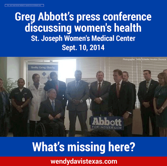 Wendy Davis Greg Abbott Women Health