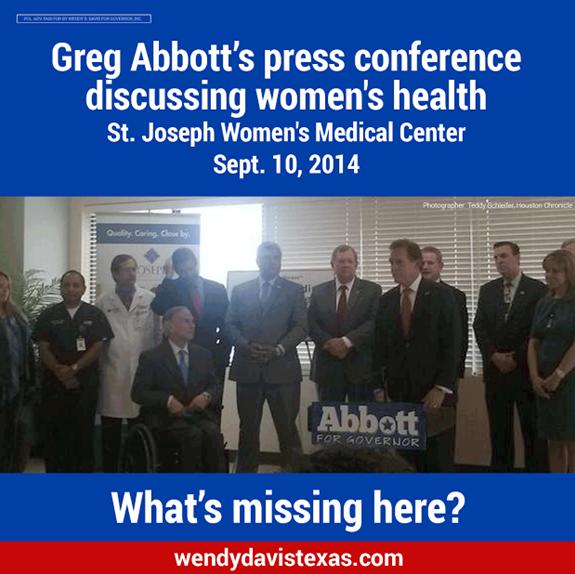 Wendy Davis Greg Abbott Women Health