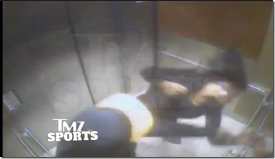 Ray Rice punch girlfriend wife Janay Palmer on elevator
