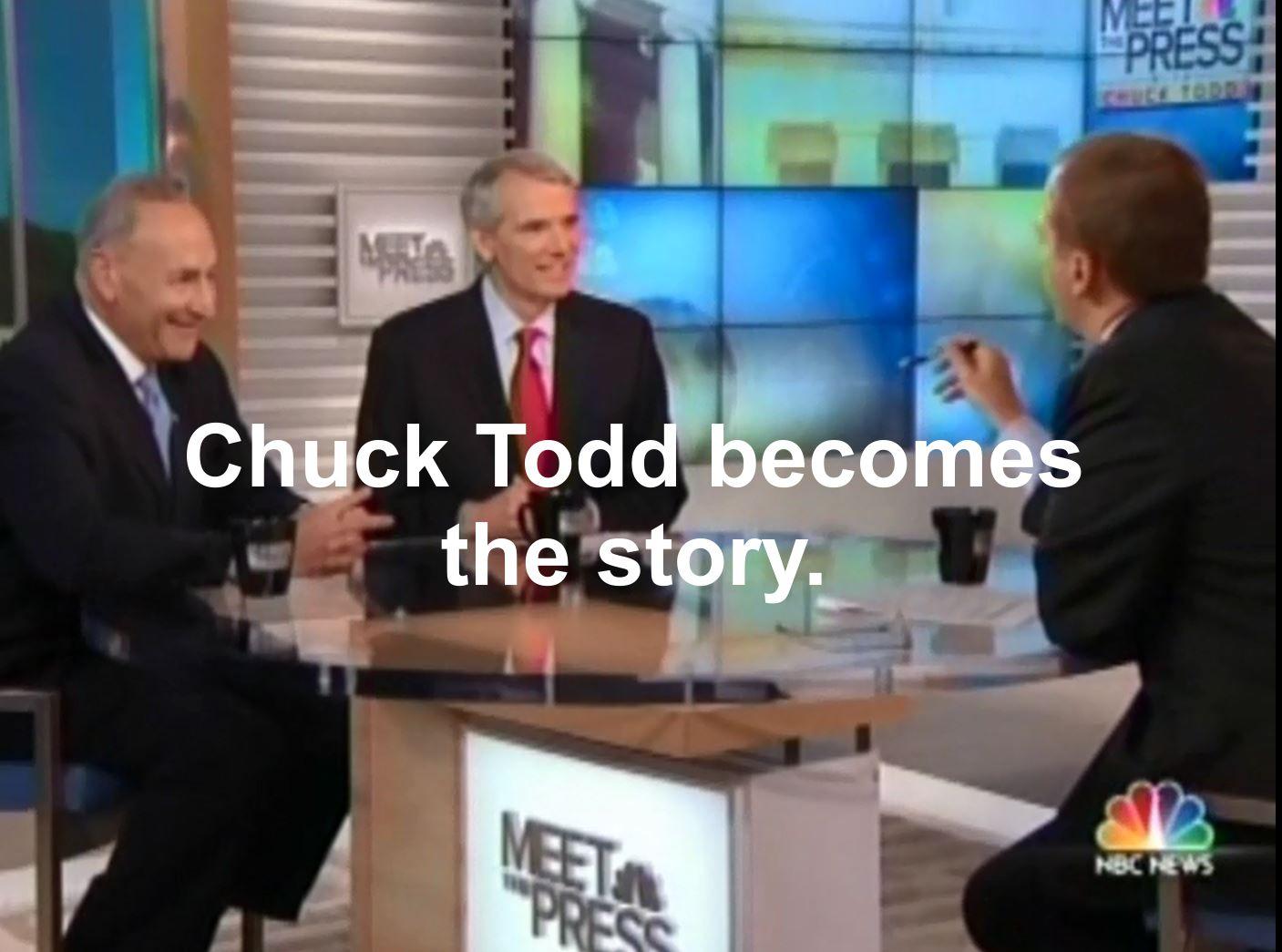 Chuck Todd's journalistic fail comes back to bite him