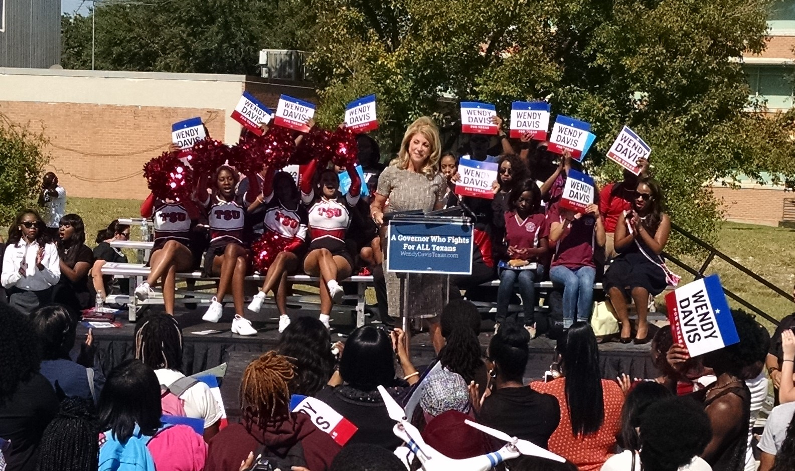 Wendy Davis, TSU, Texas Southern University,vote