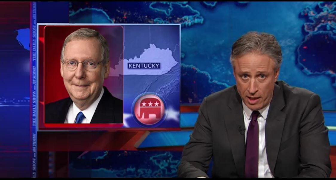Jon Stewart, GOP, Mitch McConnell