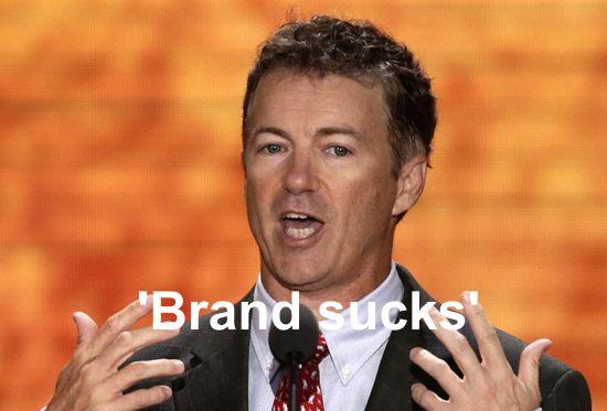Rand Paul brand sucks