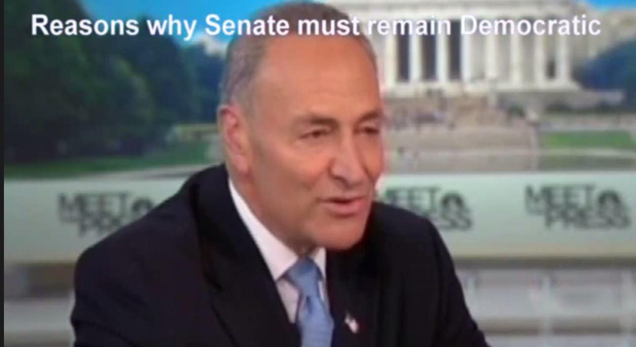 Senator Chuck Schumer makes case for Democratic Senate