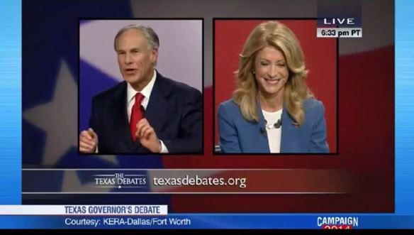 Wendy Davis Greg Abbott Gubernatorial debate