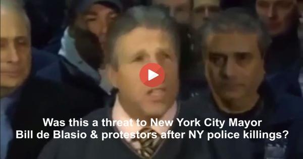 Patrolman's Benevolent Association head Patrick Lynch threatens Mayor Bill de Blasio & Protestors