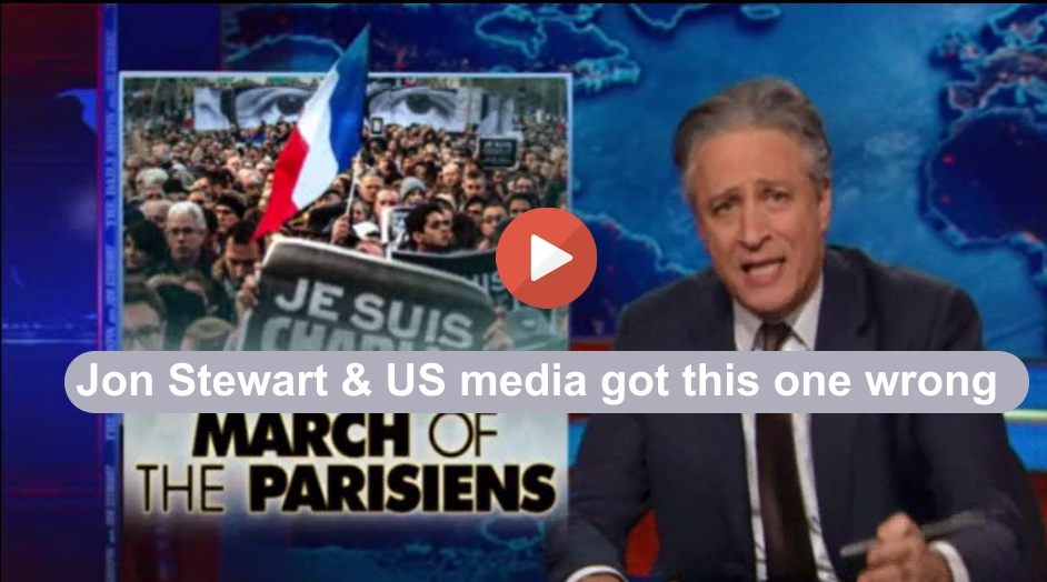 Jon Stewart and US Media got it wrong