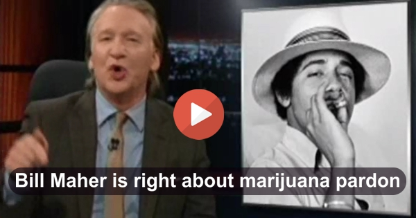 Bill Maher gives compelling reason why Obama should pardon prisoners doing time for smoking marijuana