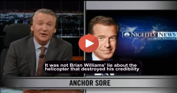 Bill Maher slams Brian Williams and all evening news because ...