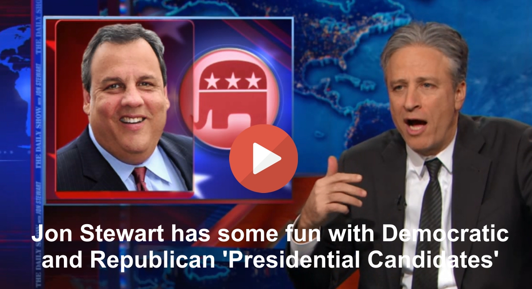 Jon Stewart has some fun with Democratic & Republican 'Presidential Candidates'