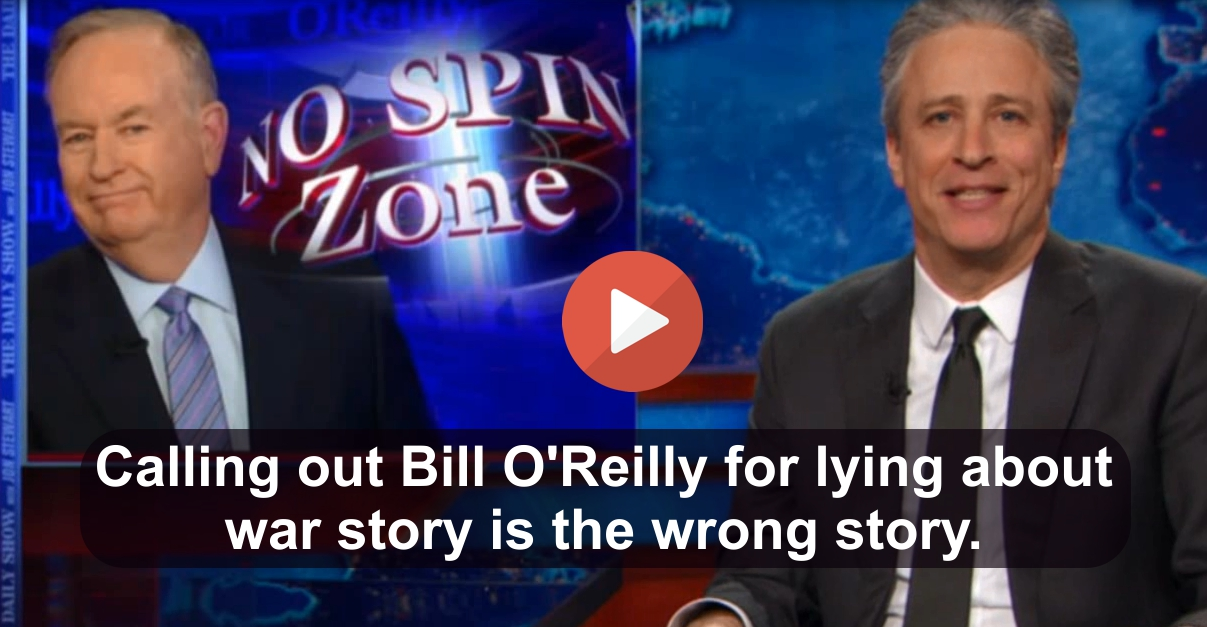 Jon Stewart slams media for getting the O'Reilly story and others really wrong