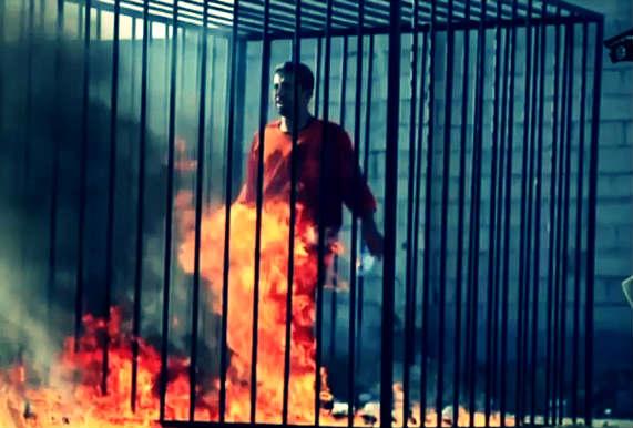 Burning of Jordanian Pilot