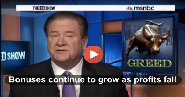 Ed Schultz Wall Street Bonuses
