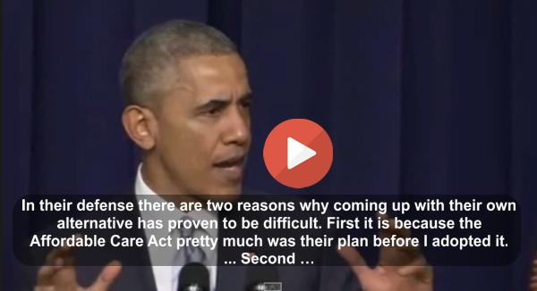 President Obama breaksdown Obamacare