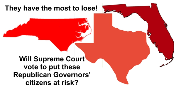 Texas, Florida, and North Carolina has most to lose if Supreme Court rules against Obamacare
