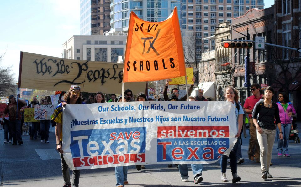 School funding save our schools rally at capitol in austin Texas