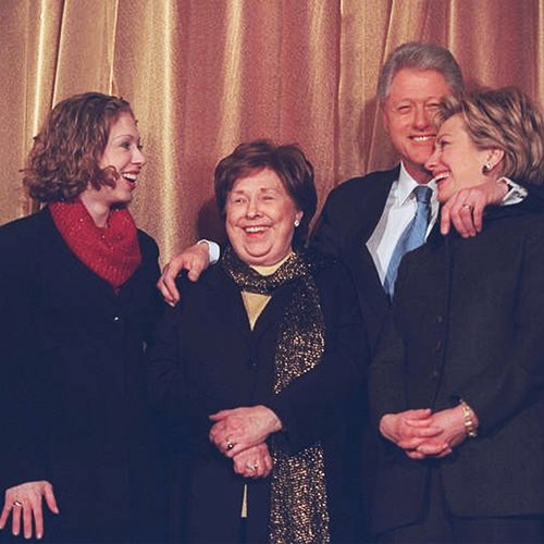 Hillary Clinton, Chelsea Clinton, Bill Clinton, in Senate