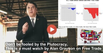 Alan Grayson on Free Trade TPP Trans Pacific Partnership
