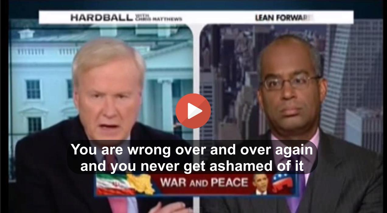 Chris Matthews slams GOP spokesman Ron Christie for shameless attack on Iran agreement and historical ignorance